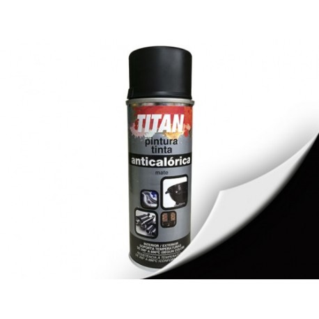 Pintura anticalórica Titan 200 ml. color negro